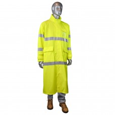 Radians RW07 Hi Vis Yellow PVC / Poly Rain Coat - Class 3 - Xlarge - (CLOSEOUT - LIMITED STOCK)