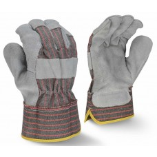 Radians RWG3103 Economy Shoulder Gray Split Cowhide Leather Glove - Dozen - XLarge (CLOSEOUT - LIMITED STOCK AVAILABLE)
