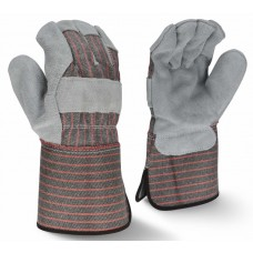 Radians RWG3103G Economy Shoulder Gray Split Cowhide Leather Glove - Gauntlet Cuff - Dozen