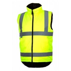 Pyramex RWVZ4510 Reversible Insulated Safety Vest - Type R Class 2 - Hi Vis Yellow