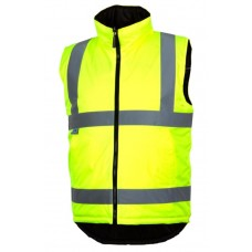 Pyramex RWVZ4510 Hi Vis Yellow Reversible Insulated Safety Vest - Type R - Class 2