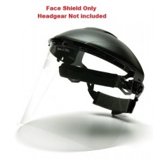 """Pyramex S1010 PETG - Universal Replacement Face Shield - 8"""" X 15""""  /.040 thick - Clear"""