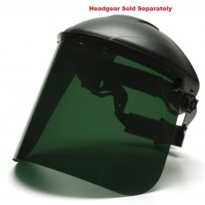 Pyramex S1035 PETG Face Shield Only - Dark Green (No IR Resin)
