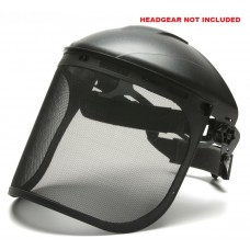Pyramex S1060 Steel Mesh - Face Shield Only - Black Mesh