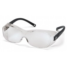 Pyramex S3510STJ OTS Safety Glasses Black Temples Clear Anti-Fog Lens