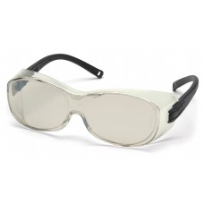 Pyramex S3580SJ OTS Safety Glasses Black Temples Indoor / Outdoor Lens