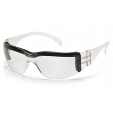 Pyramex Intruder S4110STP Safety Glasses, Clear Frame w/ Foam Padding, Clear-Hardcoated Lens, Anti-Fog