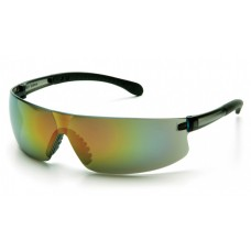 Pyramex S7255S Provoq Safety Glasses Multi-Color / Gray Frame Multi-Color Mirror Lens