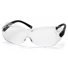 Pyramex S7510SJ OTS XL Safety Glasses Clear Lens Black Temples