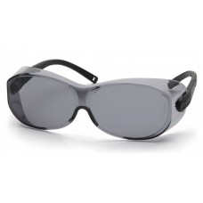 Pyramex S7520SJ OTS XL Safety Glasses Gray Lens Black Temples