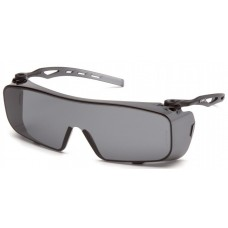 Pyramex S9920ST Cappture Safety Glasses Gray H2X Anti-Fog Lens with GrayTemples
