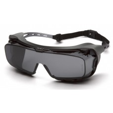 Pyramex Cappture S9920STMRG Safety Glasses Gray H2MAX Anti-Fog Lens with Rubber Gasket