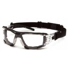 Pyramex Fyxate SB10210STMFP Safety Glasses - Clear Temples - Clear H2MAX Anti-Fog Lens