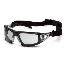 Pyramex Fyxate SB10225STMFP Safety Glasses - Clear Temples - Light Gray H2MAX Anti-Fog Lens