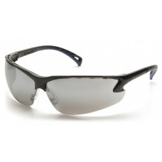Pyramex Venture 3 SB5770D Safety Glasses Black Frame Silver Mirror Lens