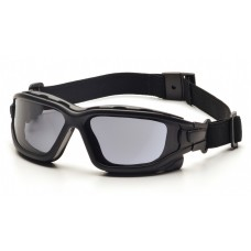Pyramex I-Force Slim Safety Glasses - Black Frame - Gray Anti-Fog Lens
