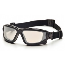 Pyramex I-Force Slim Safety Glasses - Black Frame - Indoor/Outdoor Mirror Anti-Fog Lens