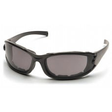 Pyramex Pmxcel SB7321DT Safety Glasses, Matte Black Frame, Gray Lens, Anti-Fog, Polarized