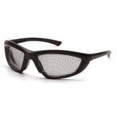 Pyramex SB74WMD Trifecta Safety Glasses - Black Wire Mesh Lens - Black Frame - (Not for Electrical Use)