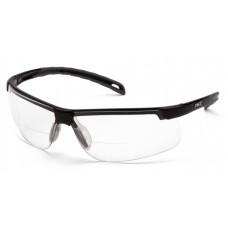 Pyramex Ever-Lite SB8610R25 Reader Safety Glasses, Black Frame, Clear Bifocal Lens +2.5 Magnification