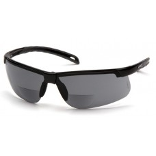 Pyramex Ever-Lite SB8620R20 Reader Safety Glasses, Black Frame, Gray Bifocal Lens +2.0 Magnification