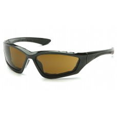 Pyramex Accurist Safety Glasses - Black Frame - Coffee Anti-Fog Lens - (CLOSEOUT - LIMITED STOCK AVAILABLE)