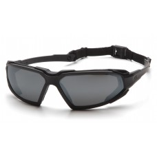 Pyramex Highlander Safety Glasses, Black Frame, Gray Lens, Anti-Fog