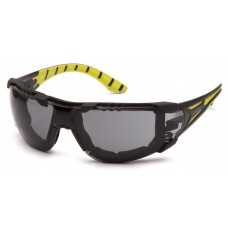 Pyramex SBGR9620S Endeavor Plus Dielectric Safety Glasses - Black/Green Foam Padded Frame - Gray H2MAX Anti-Fog Lens