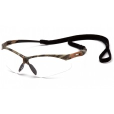 Pyramex PMXTREME Safety Glasses, Camo Frame, Clear Lens Anti-Fog with Cord
