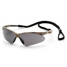 Pyramex PMXTREME Safety Glasses, Camo Frame, Gray Lens Anti-Fog with Cord