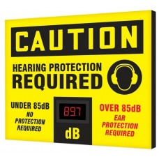 "OSHA Caution Industrial Decibel Meter Sign: Hearing Protection Required - 20"" x 24"""