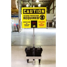 OSHA Cation Industrial Decibel Meter Sign with Portable Cart