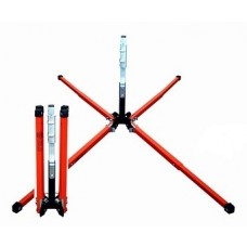 "Dicke SDL1000W DynaLite - Stands for Roll-Up Signs - 22"" Steel Legs w/ Screwlock Panel Holder"