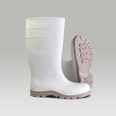 "Heartland 70664 White / Tan Jumbo Shrimp PVC Boot 15"" Plain Toe"