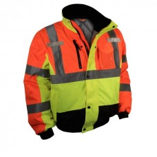 Radians SJ12 Hi Vis Two Tone Weather Proof Bomber Jacket - Quilted Liner - Type R - Class 3