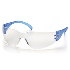 Pyramex Intruder SN4110S Safety Glasses, Blue Temples, Clear-Hardcoated Lens