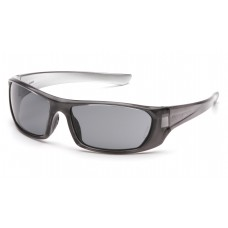 Pyramex SNK8020D Outlander Safety Glasses - Nickel Frame - Gray Lens - (CLOSEOUT)