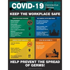 "Safety Poster: COVID-19 Keep the workplace safe - 22"" x 17"""
