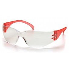 Pyramex Intruder SR4110S Safety Glasses, Red Temples, Clear-Hardcoated Lens