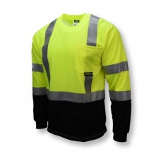 Radians ST21B Hi Vis Yellow Black Bottom Long Sleeve Safety T-Shirt - Type R - Class 3 - (CLOSEOUT - LIMITED STOCK AVAILABLE)