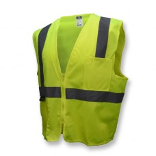 Radians SV2ZGM Hi Vis Yellow Economy Solid Safety Vest - Type R - Class 2 - (CLOSEOUT)