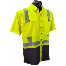 Radians SW11 Hi Vis Yellow Ripstop Safety Shirt - Short Sleeve - Type R - Class 2 (CLEARANCE - LIMITED STOCK AVAILABLE)