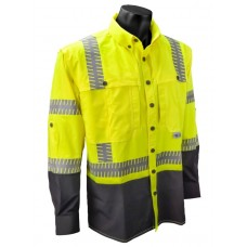 Radians SW21 Hi Vis Yellow Ripstop Safety Shirt - Long Sleeve - Type R - Class 3 (CLEARANCE - LIMITED STOCK AVAILABLE)