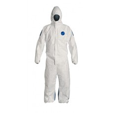DuPont Safespec Tyvek Disposable Coverall 400D, Chemical Resistant, Elastic Wrists & Ankles, 25/Case