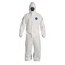 DuPont Tyvek 400D Disposable Hooded Coverall - Elastic Wrists - 25 / Case
