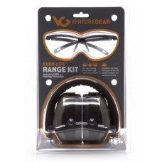 Venture Gear Range Kit ,PM8010 Earmuff with Ever-Lite Black Frame and Clear Lens