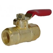 "PIC A14 Brass Mini Ball Valve 1/4"" FNPT x 1/4"" FNPT"