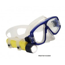 Mini Q40 Xenon Diving Flashlight w/ Mask Strap, Safety Yellow (LIMITED STOCK AVAILABLE)