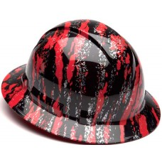 Pyramex Ridgeline Red Urban Camo Hard Hat - Full Brim - 4Pt Ratchet Suspension - (CLOSEOUT - LIMITED STOCK AVAILABLE)