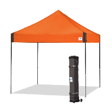 10' x 10' E-Z Up Vantage Shelter with roller Bag and Spikes, Steel Orange
